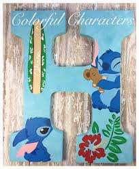 themed letters hawaiian themed lilo and stitch painted by colorfulcharacters
