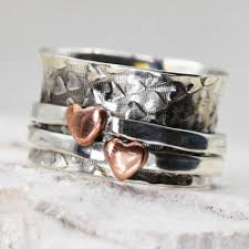 worry ring stunning sterling silver jewellery hammered worry ring with