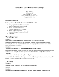 Receptionist Resumes Samples by Front Desk Resume Sample Berathen Com
