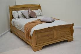normandy farmhouse 4ft 6in double oak sleigh bed queen anne bed
