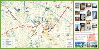 Printable Map Of New York City by Milan Tourist Attractions Map