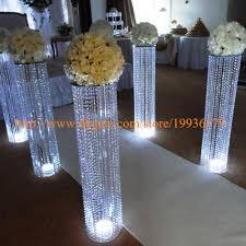 Discount Wedding Decorations 3fttall Acrylic Wedding Decoration Crystal Walkway Pillars