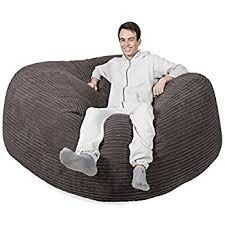 6ft beanbag sofa black giant bean bag indoor outdoor amazon