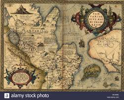 Ural Mountains World Map by 1570 Map Of