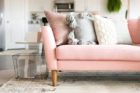 16 ultra chic blush pink sofas u0026 how to style them