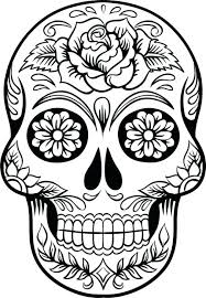 sugar skull printable coloring pages rosbif co