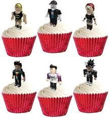 edible cake decorations 24 roblox premium stand ups edible cake toppers decorations party