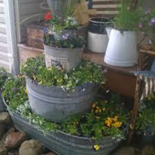 galvanized tub planters old barns pinterest