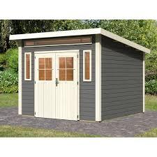 Garden Haus Kaufen Holz Gartenhaus Fonn Terragrau 274 Cm X 274 Cm Kaufen Bei Obi
