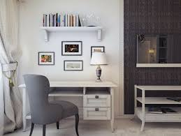 office simple loft home office with modern mdf furniture set and