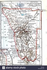 Western Africa Map by Map Of The Former Colony Of German South West Africa Now Namibia