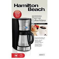 Coffee Maker With Grinder And Thermal Carafe Hamilton Beach Programmable Thermal Coffee Maker 46897z