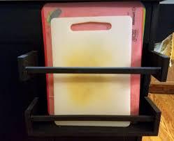 a cutting board rack made from 2 spice racks ikea hackers ikea