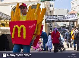 esther purim costume a boy wears a mcdonald s fries costume on purim stock