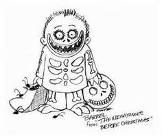 nightmare before christmas line drawing google search breann