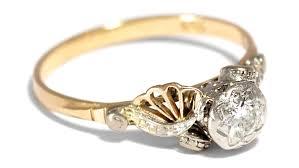 verlobungsring vintage toll deco verlobungsring brillant solitär ring diamantring 0