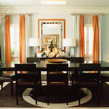 Burnt Orange Curtains And Drapes Burnt Orange Curtains French Dining Room