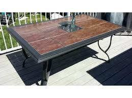 Tile Top Patio Table Patio Table X Ceramic Tile Top South Westbury
