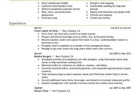 Food Service Resume Example by Restaurant Server Resume Examples Server Resume Example