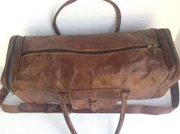 rugged leather overnight bag weekend bag duffle bag travel holiday