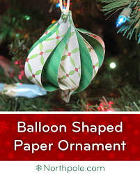 craft cottage balloon shaped paper ornament