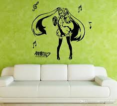 music note home decor anime cartoon musical note hatsune miku playing music singing and