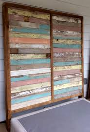 Reclaimed Wood Headboard by Headboards Made From Reclaimed Wood 52 Fascinating Ideas On