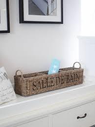 aufbewahrungsbox badezimmer aufbewahrungsbox utensilienbox für badezimmer aus rattan graubraun