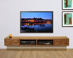 Wall Mount Tv Stand With Shelves by Wall Mounted Tv Stand Entertainment Console Mayan Por Woodwavesinc