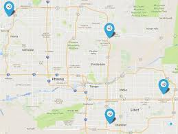 map of chandler az our locations serving scottsdale chandler mesa and beyond