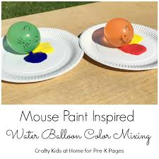 mouse paint water balloon painting pre k pages