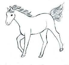 coloring blog archive horse coloring pages print