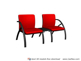 Waiting Chairs For Salon Waiting Chairs 3d Model Free Download Cadnav Com