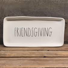 new rae dunn by magenta rectangular friendsgiving platter