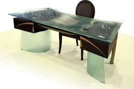 bureau verre design bureau de direction en mdf en bois laqué en verre