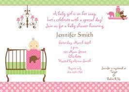 baby shower invites for girl template baby shower invitations for girl