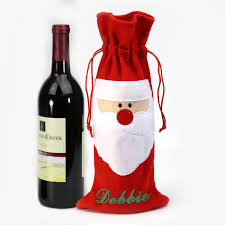 wine bottle gift bags personalized christmas santa wine bottle gift bag shop now