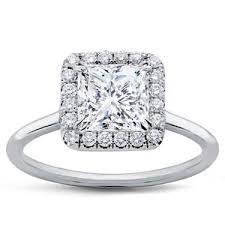 plain band engagement ring plain band princess halo engagement setting r3011