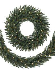 accessories pre lit garland lighted garland