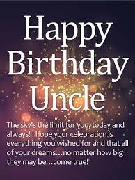 Happy Birthday Wishes To Big Sparkle Happy Birthday Wishes Card For Uncle Birthday Greeting