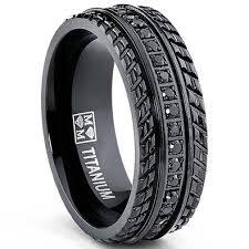 mens black titanium wedding rings buy mens black titanium pave set wedding band engagement eternity