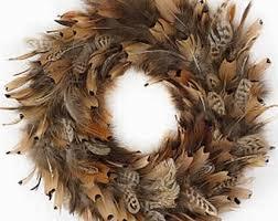 turkey feather wreath pheasant feather wreath etsy