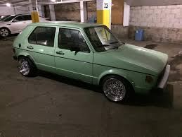 vintage volkswagen rabbit vwvortex com 1980 vw rabbit mountain green 5 speed manual
