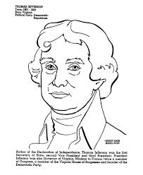 thomas jefferson coloring page social studies pinterest
