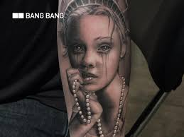 portrait women tattoo by bang bang nyc
