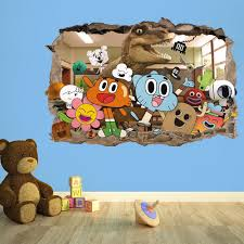 the amazing world of gumball 3d breakout kids wall sticker kids the amazing world of gumball 3d breakout kids wall sticker kids bedroom vinyl wallsticker