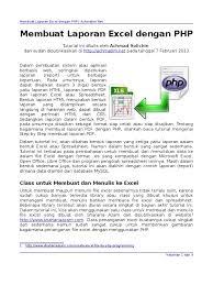 Php Spreadsheet Membuat Laporan Excel Dengan Php Achmatim Net