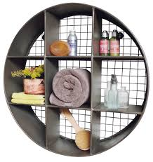 Decorative Metal Wall Shelves Turn Storage Into Wall Art Industrial Style Wall Display Unit