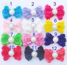 bows for hair diy bow without clip 3 chiffon hair bows with pearl