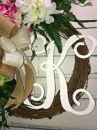 monogram wreath wreath summer wreath monogram wreath monogram door